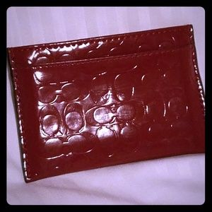 Coach credit card holder